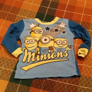 Despicable Me minions long sleeve top size 2T